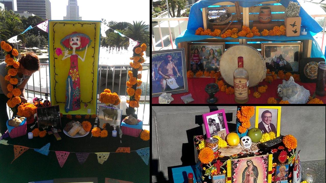 A selection of Dia de los Muertos altars at Grand Park. Oct. 29, 2014