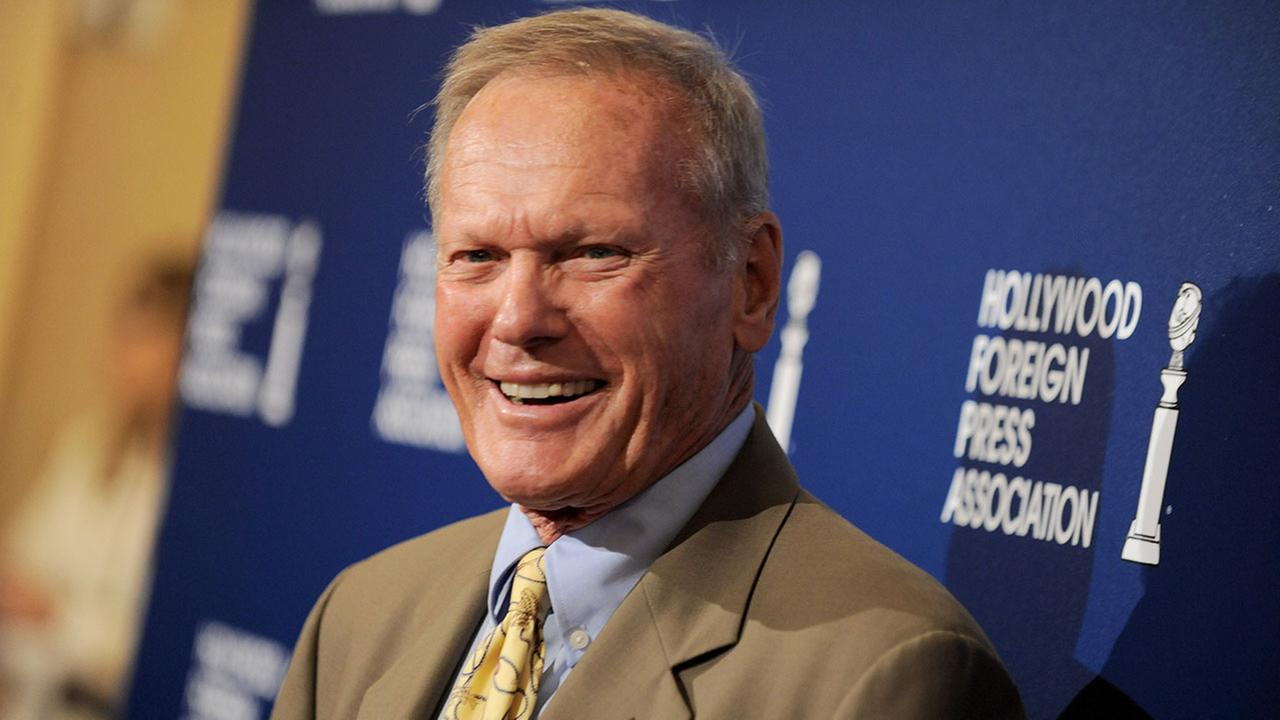 Tab Hunter arrives at the Hollywood Foreign Press Association Luncheon at the Beverly Hilton Hotel on Tuesday, Aug. 13, 2013, in Beverly Hills, Calif.