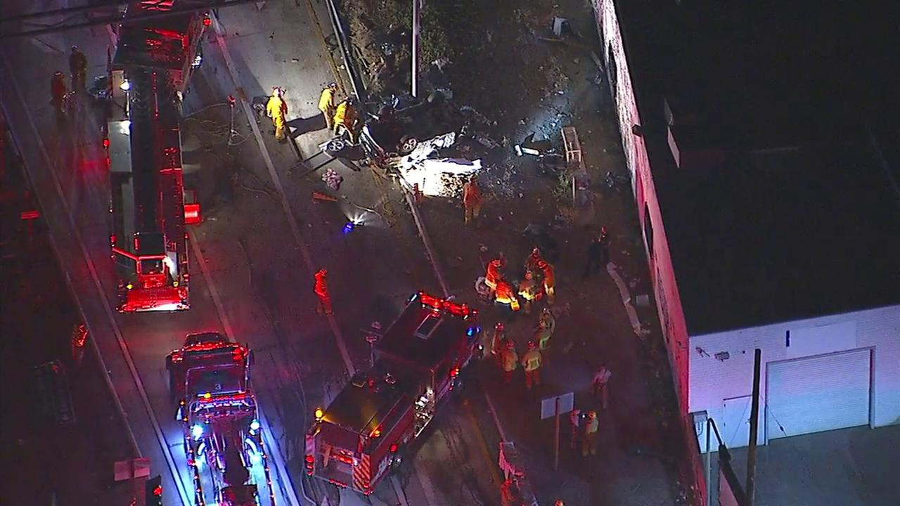 Firefighter-paramedics responded to a fatal crash on a 405 Freeway offramp in West Los Angeles on Wednesday, July 11, 2018.