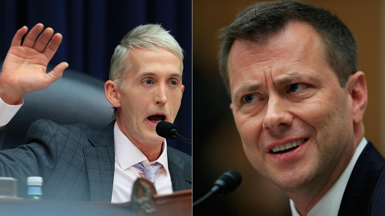 House Judiciary Chariman Rep. Trey Gowdy, R-S.C. (left) questions FBI Deputy Assistant Director Peter Strzok during a hearing on the FBIs investigation into the 2016 election.
