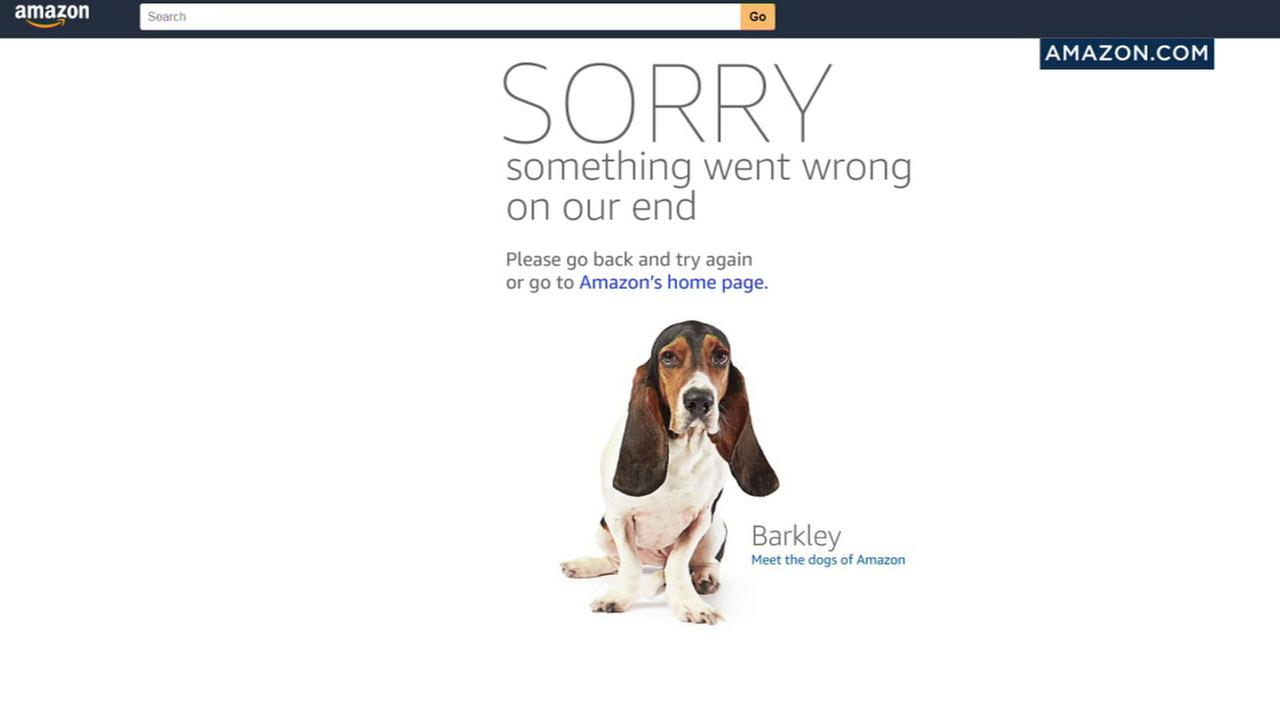 Many Amazon users were met with an error message when they went to the site for the start of Prime Day.