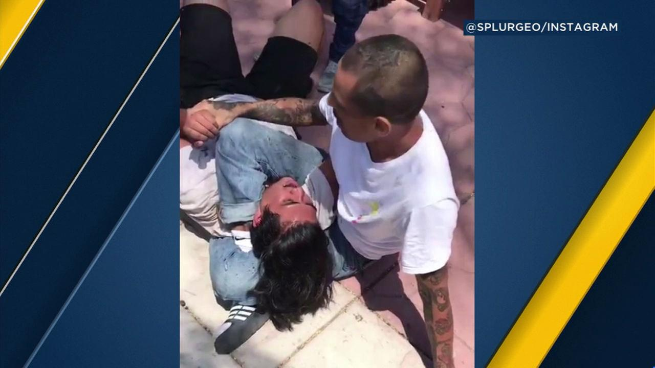 MMA fighter Sergio Hernandez Jr. trapped a burglar at his San Diego home with a triangle choke hold.