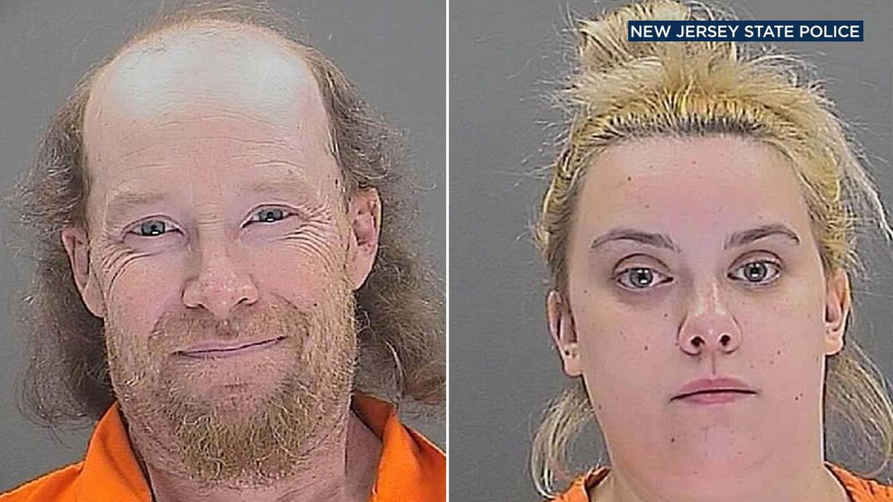 William Herring, 42, and Brianna Brochhausen, 22, are seen in booking photos from the New Jersey State Police.