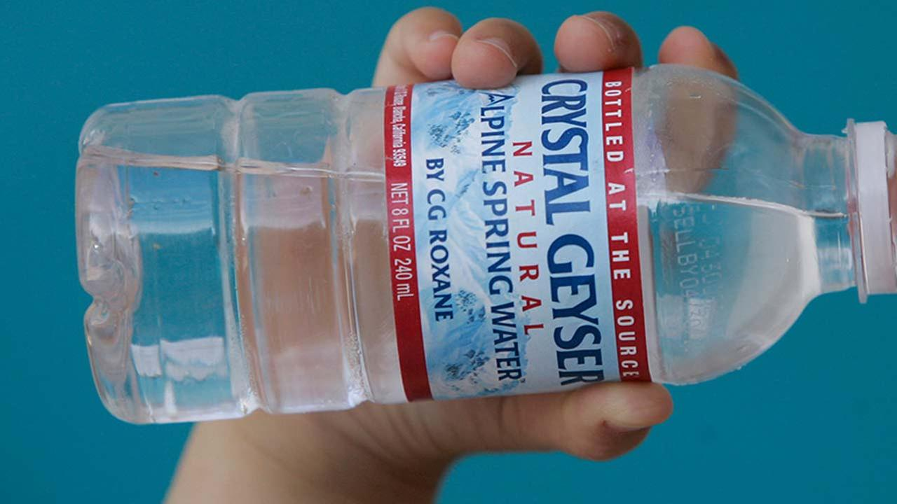 File photo of a bottle of Crystal Geyser water.
