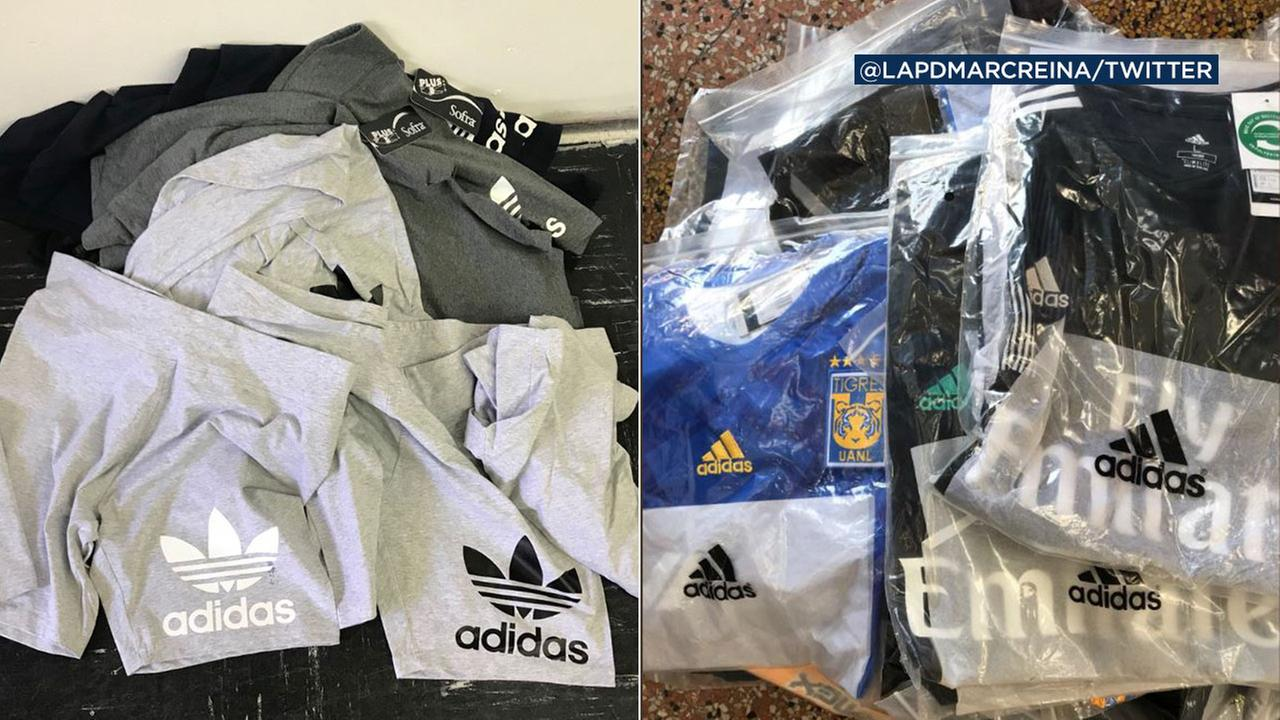 LAPD seizes fake Adidas merchandise worth more than $200K in Santee Alley