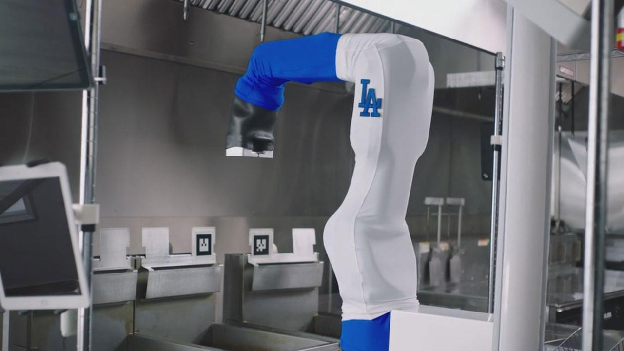 The Dodgers are adding an extra cook to its kitchen: Flippy, a robot that serves up chicken tenders.