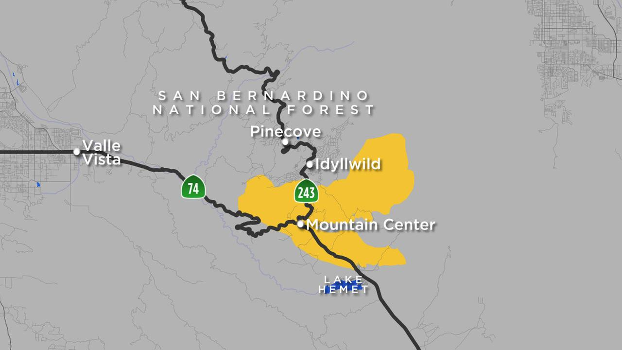 An updated map shows the fire perimeter of the Cranston Fire, which has charred thousands of acres in the Idyllwild area.