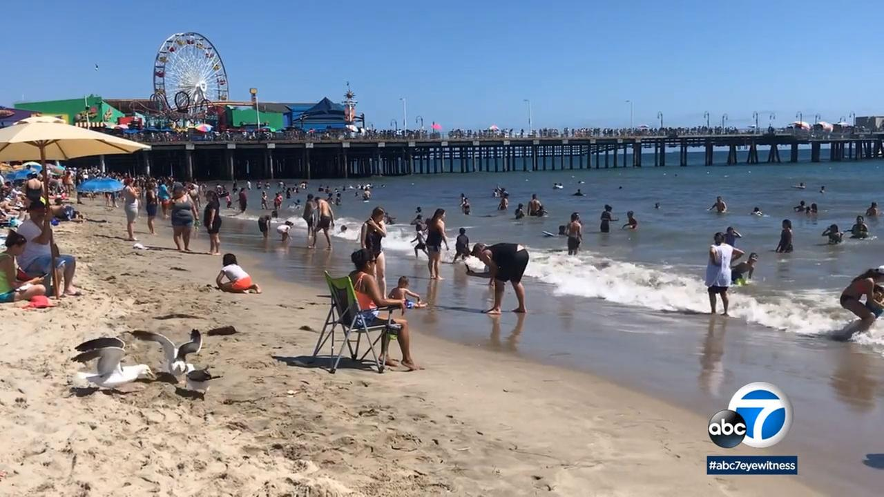 The city beach bus to Santa Monica is a popular, and cheap, option for some summer fun.