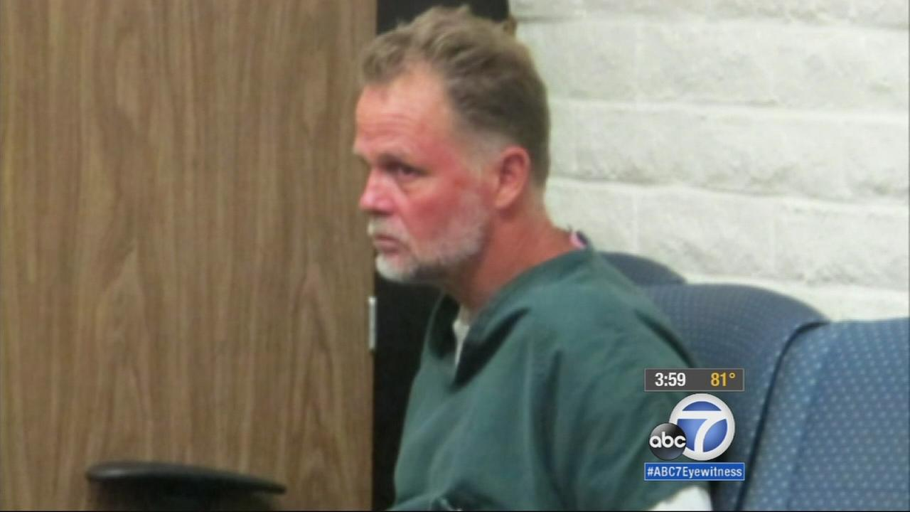 Charles Chase Merritt makes his first court appearance at the Victorville Courthouse Friday, Nov. 7, 2014, for the murders of the McStay family.