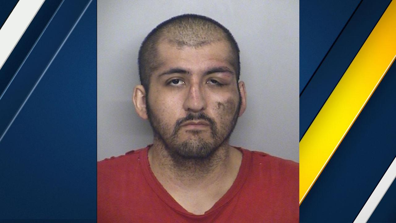 Matthew Oliva, 31, is shown in a mugshot provided by Fontana police.