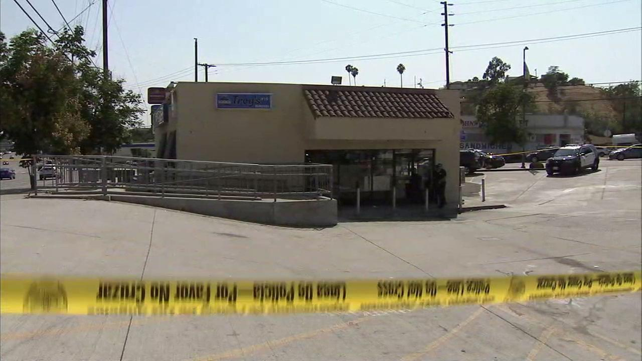 One person was shot and wounded at Troys Burgers in El Sereno, police said.