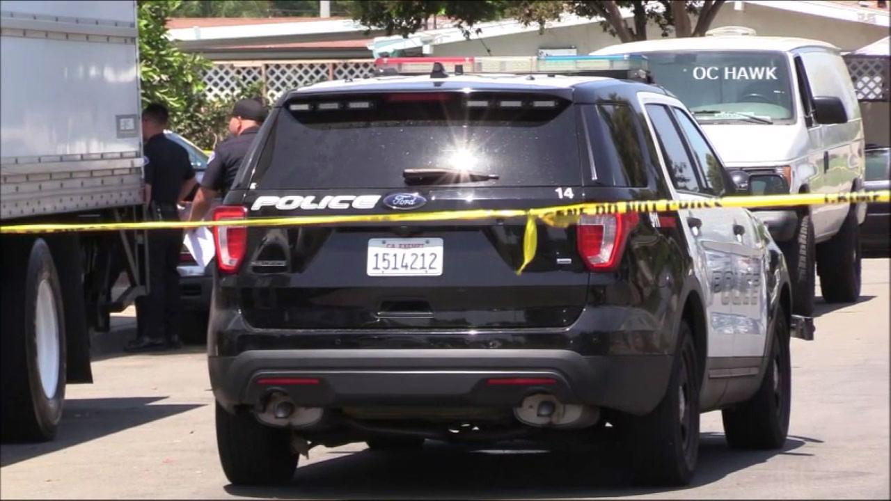 A Garden Grove homeowner armed with a handgun helped catch a suspected burglar who broke into his neighbors home - and may have shot a second accomplice who got away, police said.
