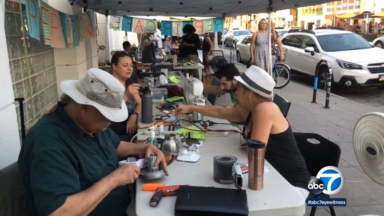 The Long Beach Time Exchange brought in more than 20 volunteers to fix items for free.