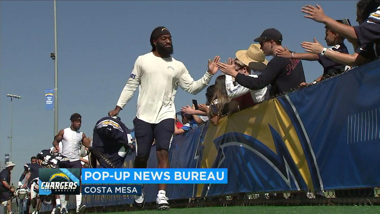 The Chargers are giving fans the chance to see players in action before the start of the season and offering a wide range of interactive events at its training camp.