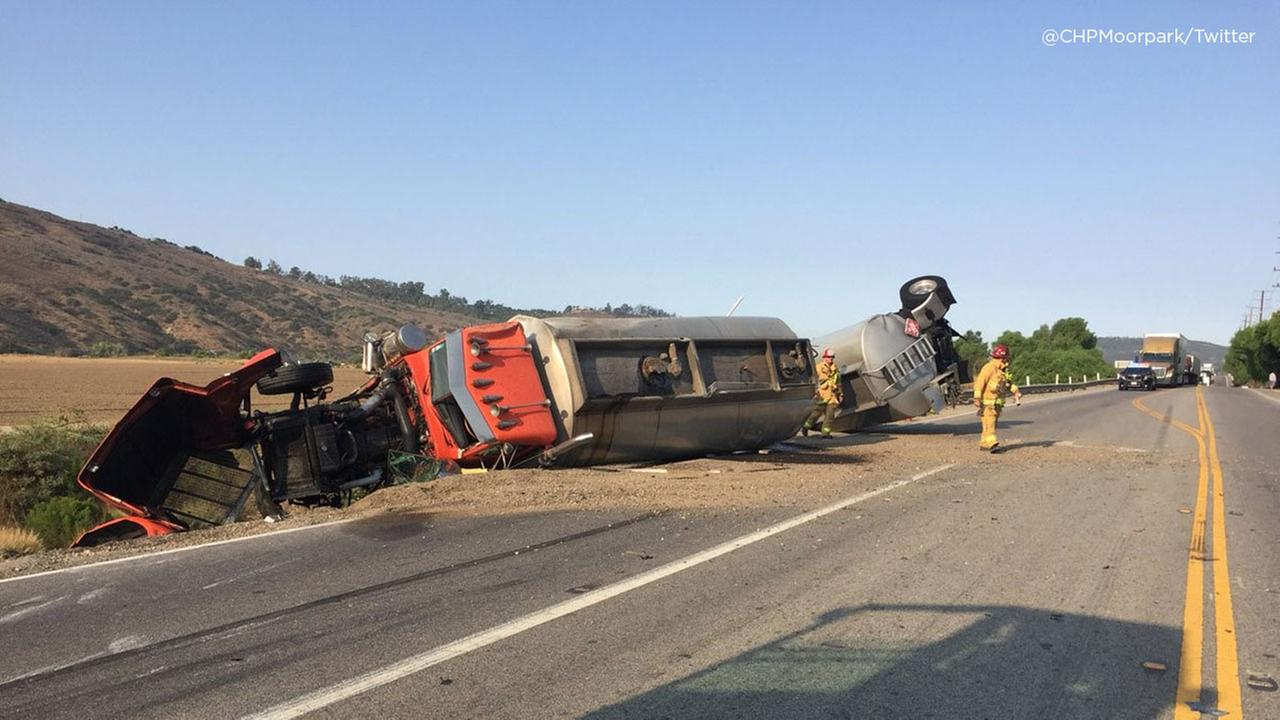 A two-vehicle crash that critically injured a passenger on State Route 118 in Moorpark on Friday, Aug. 10, 2018.