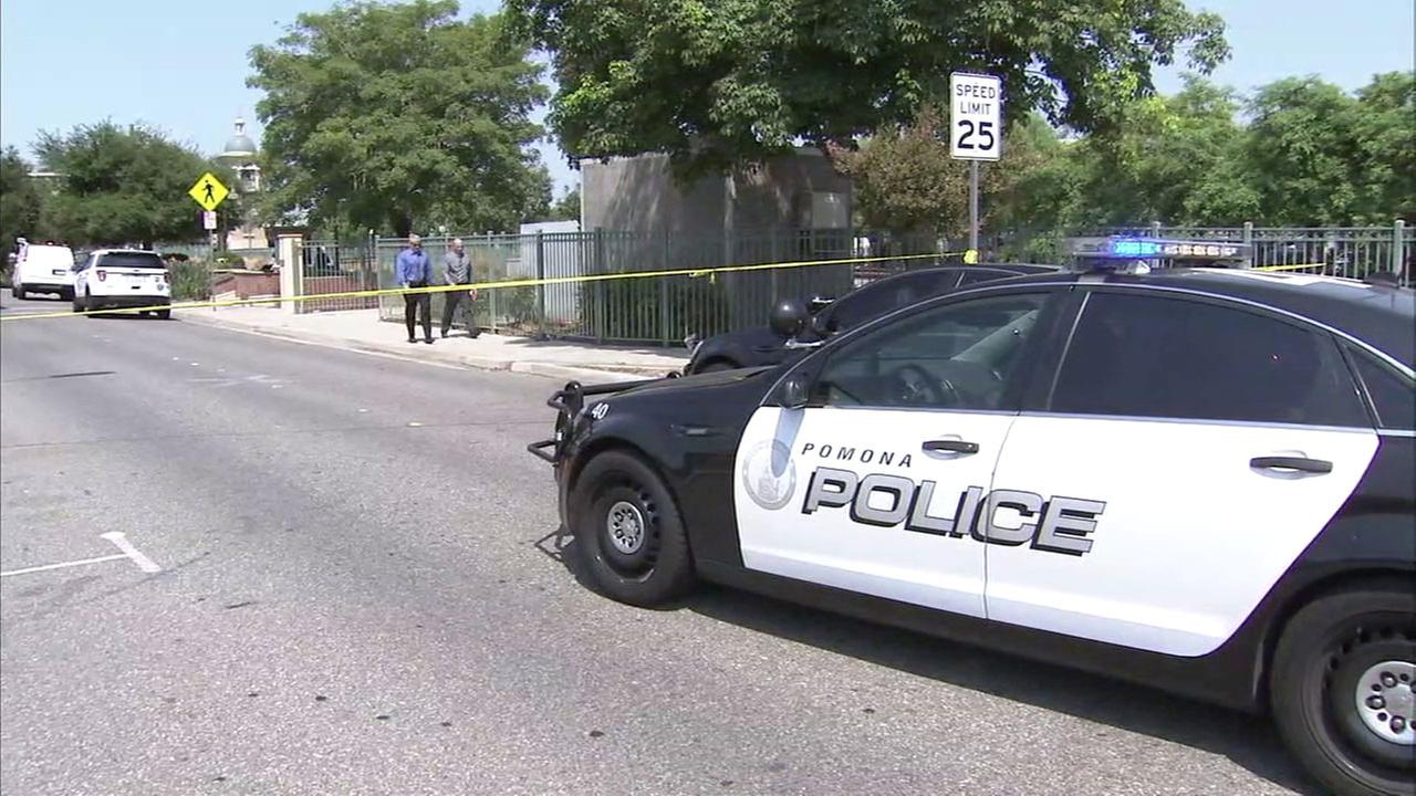 Suspect detained after 2 shot dead inside car in Pomona