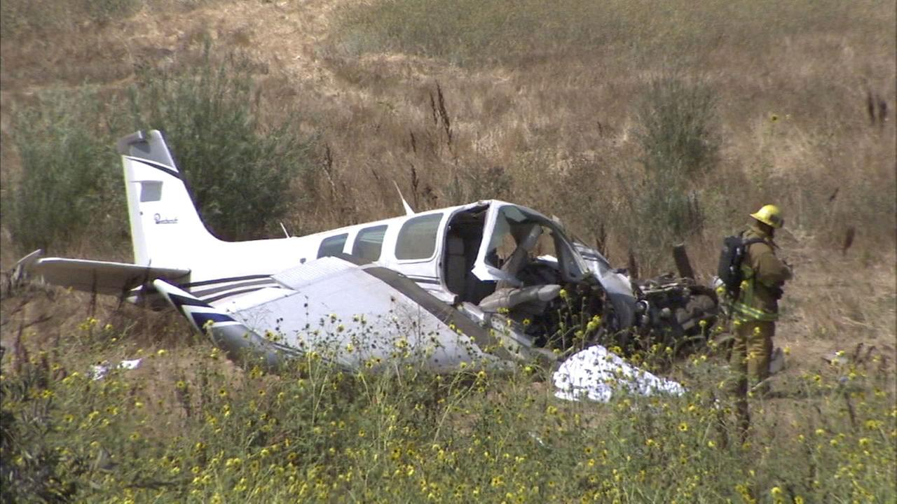 One person died in a small-plane crash in Sylmar on Sunday, Aug. 12, 2018.