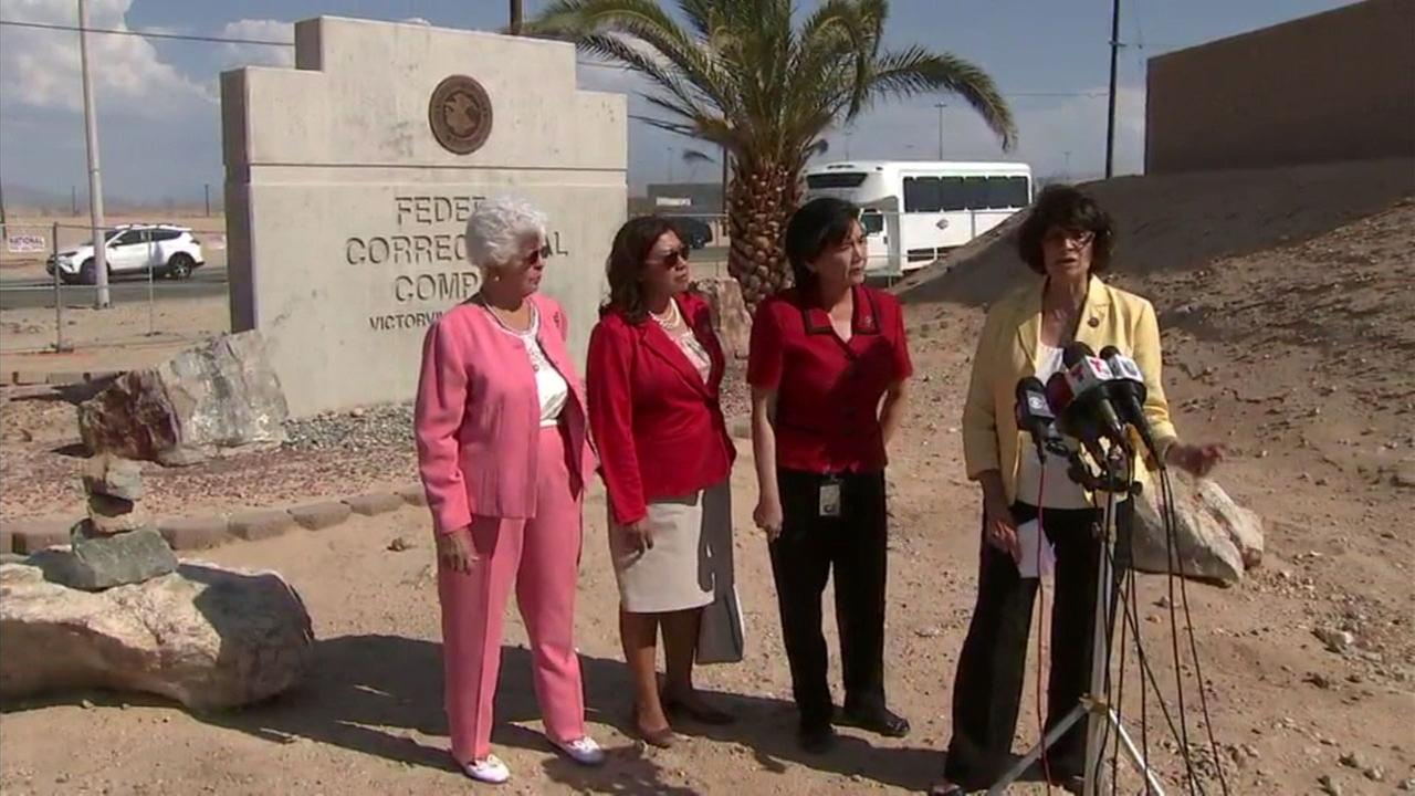 Members of Californias congressional delegation speak after touring two Inland Empire detention centers for immigrants.