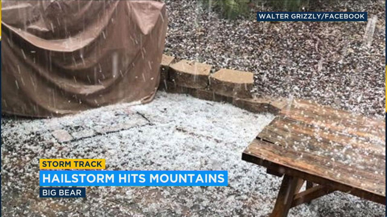 Rare summer rainfall, hail arrives in Inland Empire communities