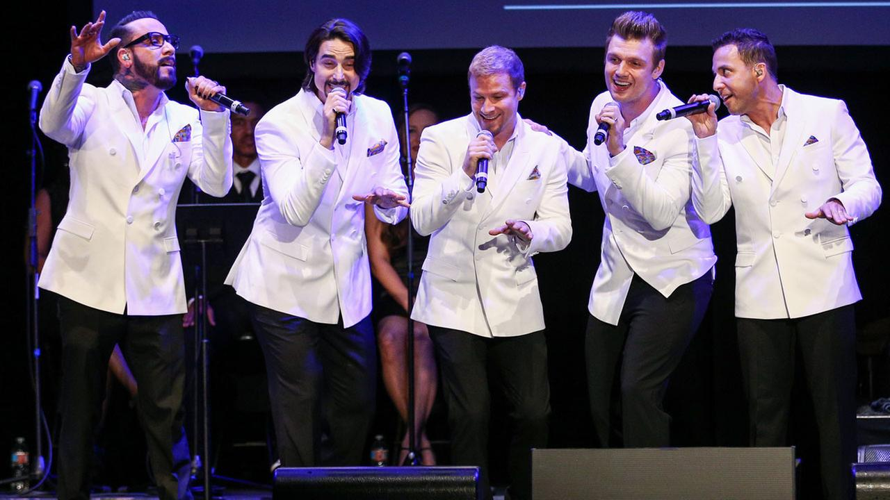 In this May 19, 2016 file photo, the Backstreet Boys perform at the 12th Annual MusiCares MAP Fund Benefit Concert held at The Novo by Microsoft, in Los Angeles.