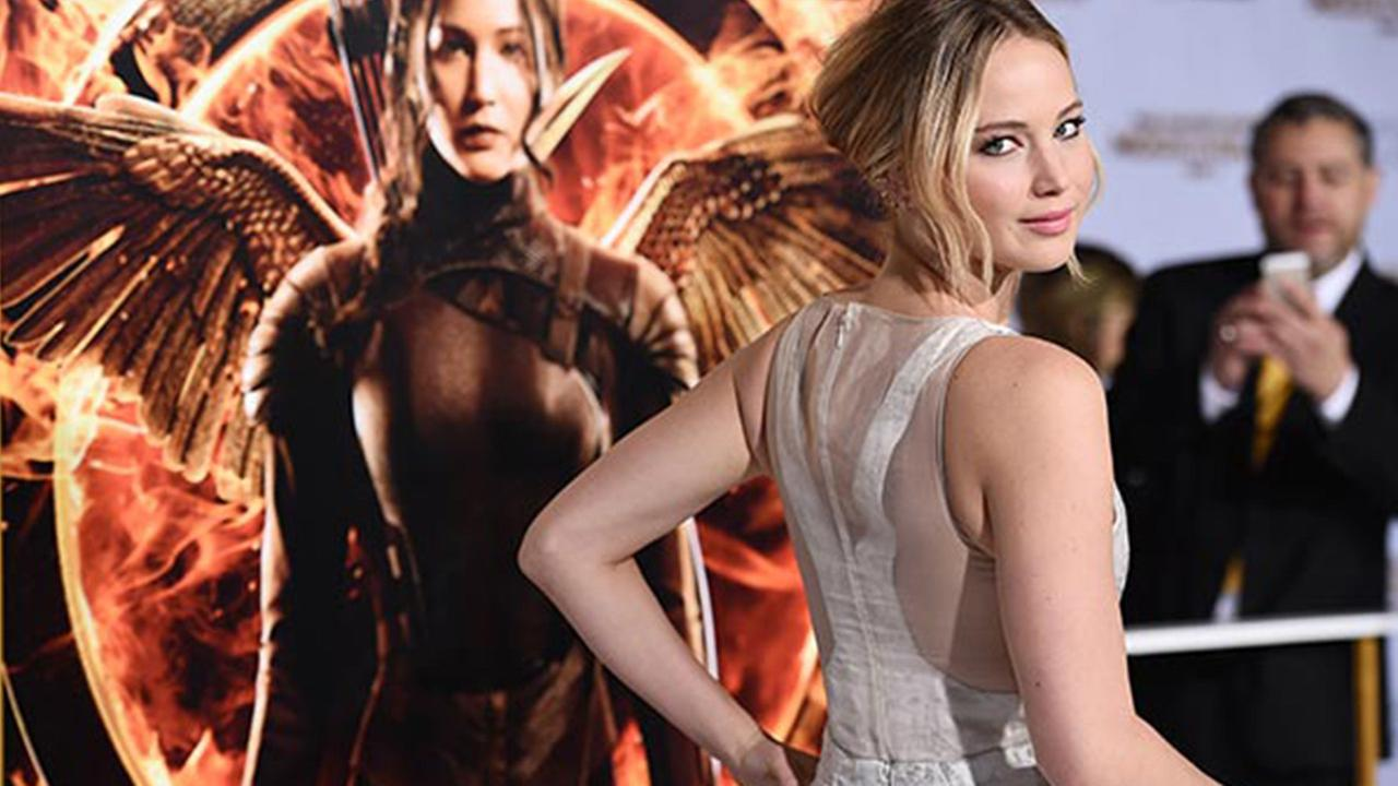 Jennifer Lawrence arrives at the Los Angeles Premiere of Lionsgates The Hunger Games: Mockingjay - Part 1 held at Nokia Theatre L.A. Live on Monday, Nov 17, 2014.