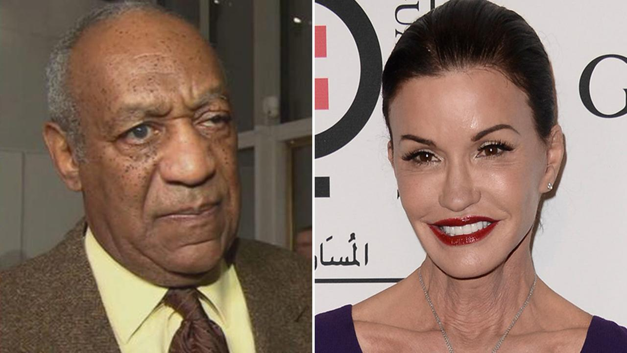 Bill Cosby (L), Janice Dickinson (R)