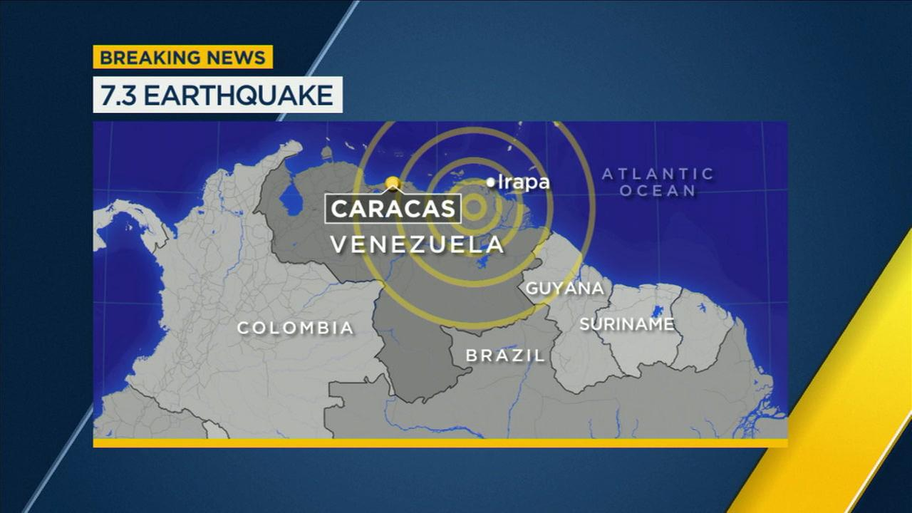 A magnitude 7.3 earthquake struck Venezuela Tuesday afternoon, according to the USGS.