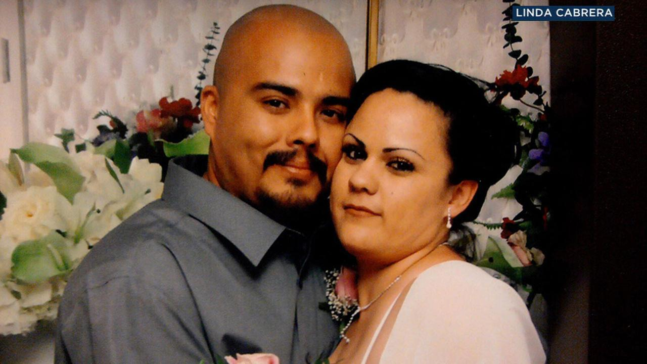 A photo shows Leo Cabrerra alongside his wife. Family members IDd him as a tanker truck driver who died in a crash on the 105 Freeway in Hawthorne Friday, Aug. 24, 2018.