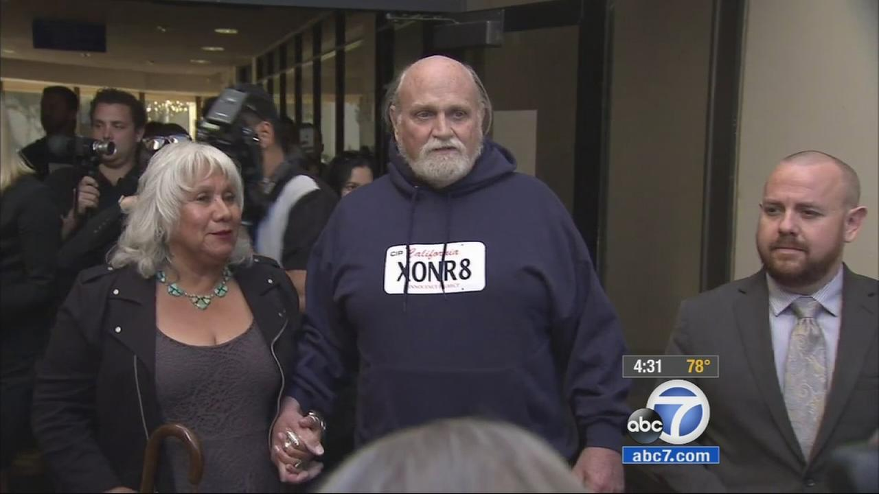 Michael Hanline, 69, of Ventura was freed Monday, Nov. 24, 2014 after 36 years behind bars for murder.