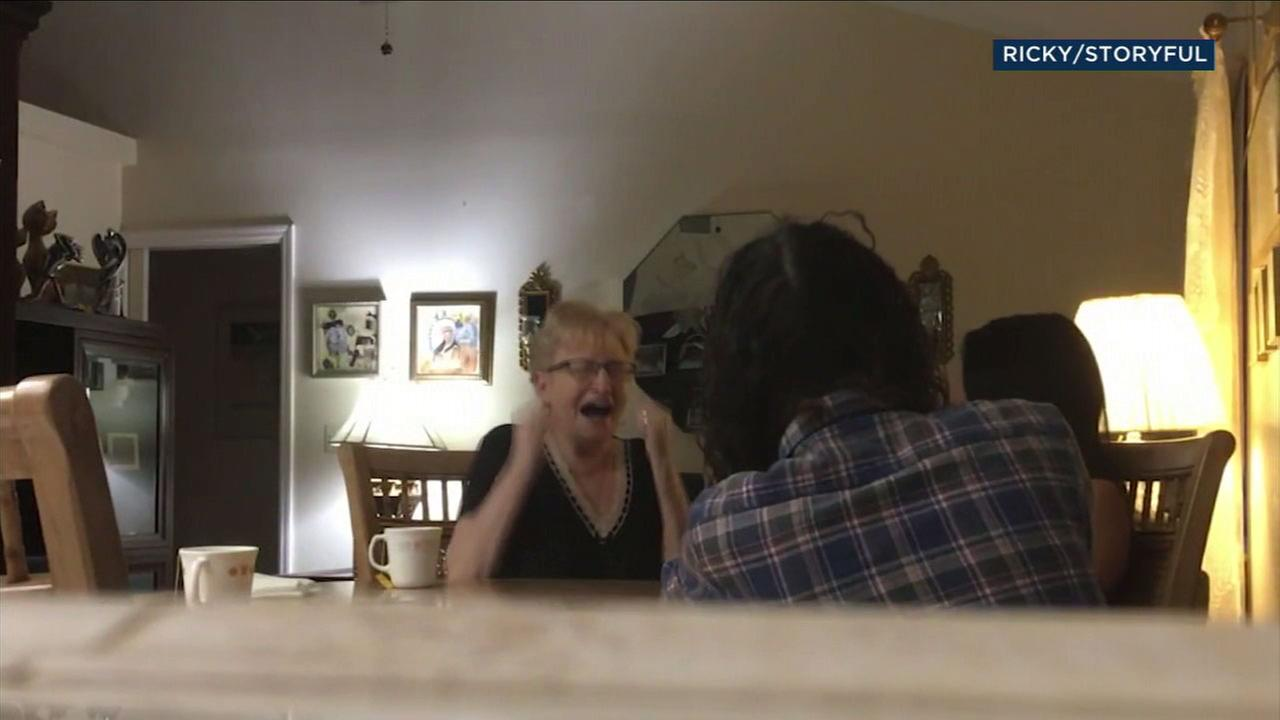 A surprise marriage proposal left the fiancees grandmother with all the feels.