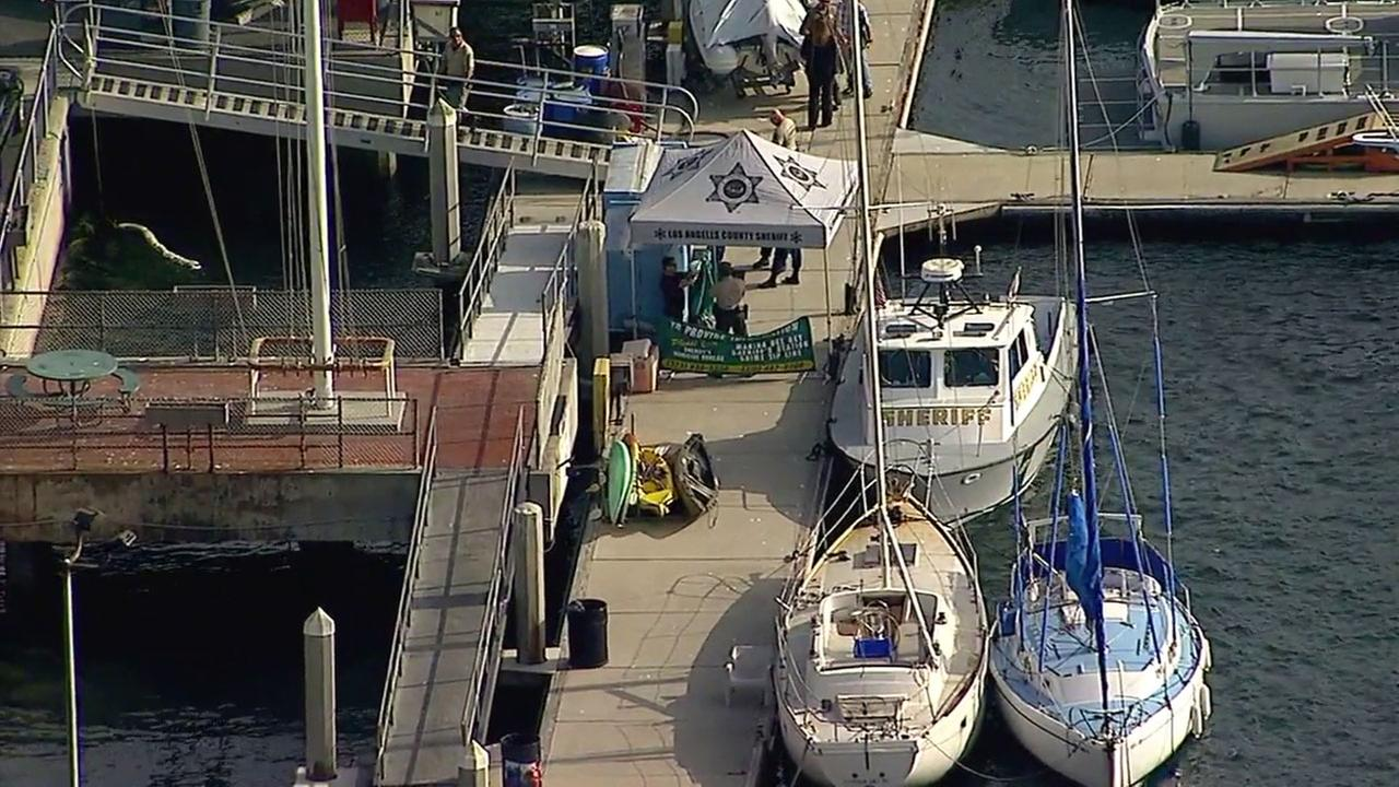 The Los Angeles County Sheriffs Department is investigating the death of a kayaker near Marina del Rey.
