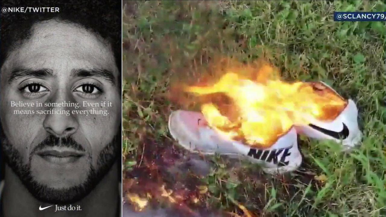 Nike is facing a backlash from some customers as it features Colin Kaepernick in a new ad campaign.