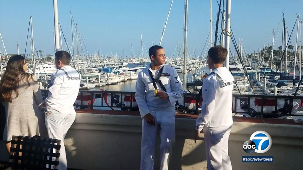 The Cabrillo Beach Yacht Club hosted its annual Burger Bash to thank the U.S. Navy during LA Fleet Week.