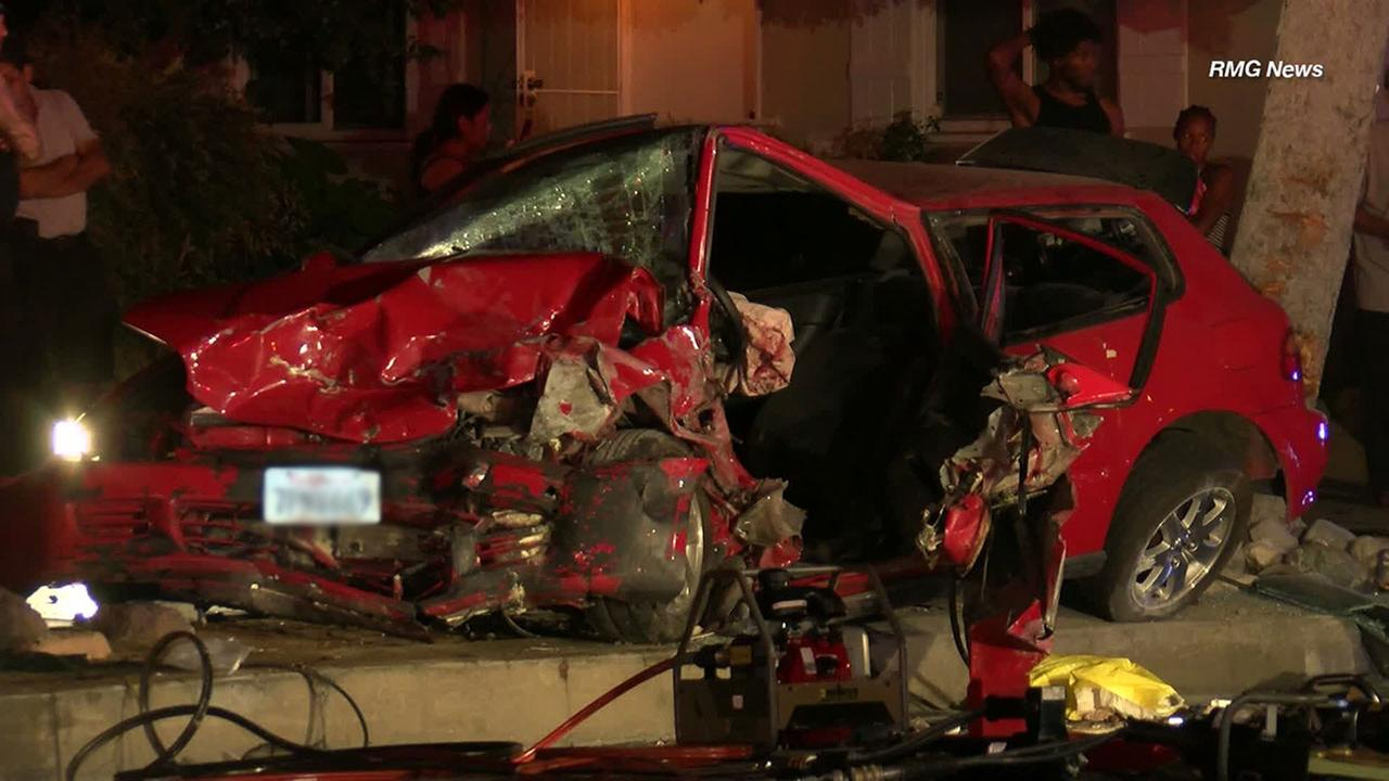 A juvenile suspect stole a car in Arcadia and fled from police at high speeds before smashing into multiple parked cars in Monrovia, officials said.