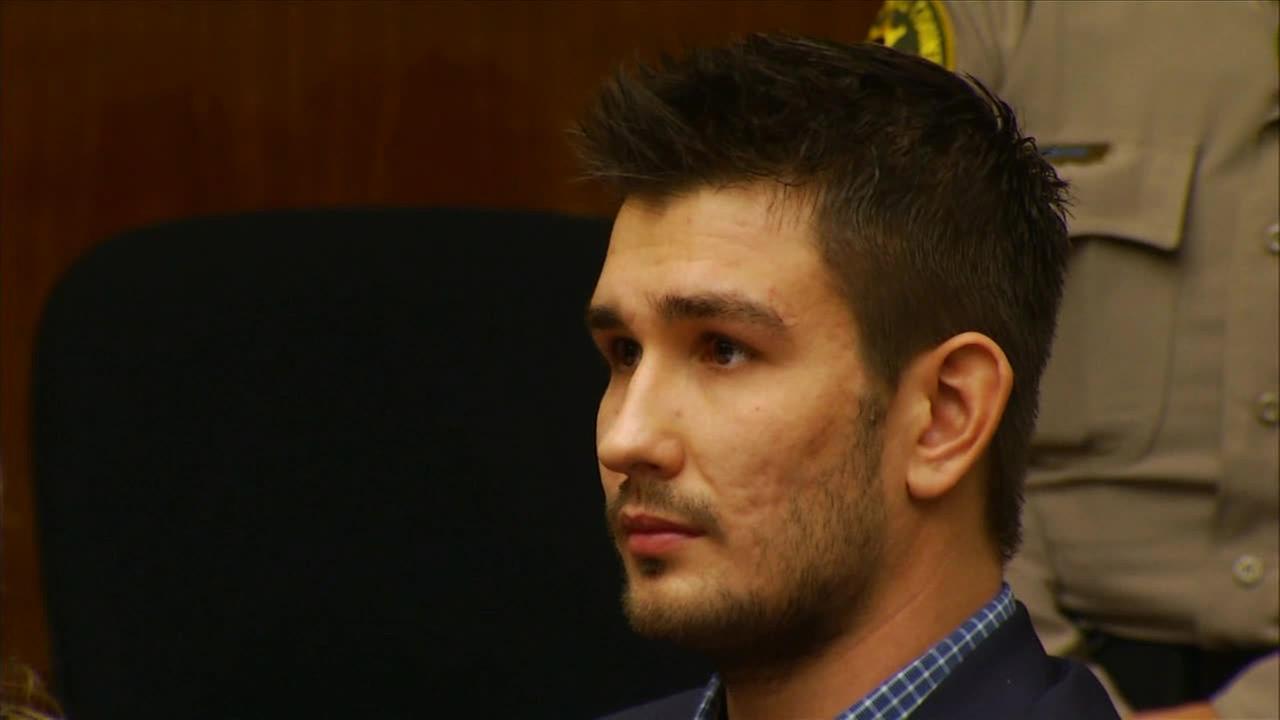Los Angeles Kings Slava Voynov appears in court on Monday, Dec. 1, 2014.