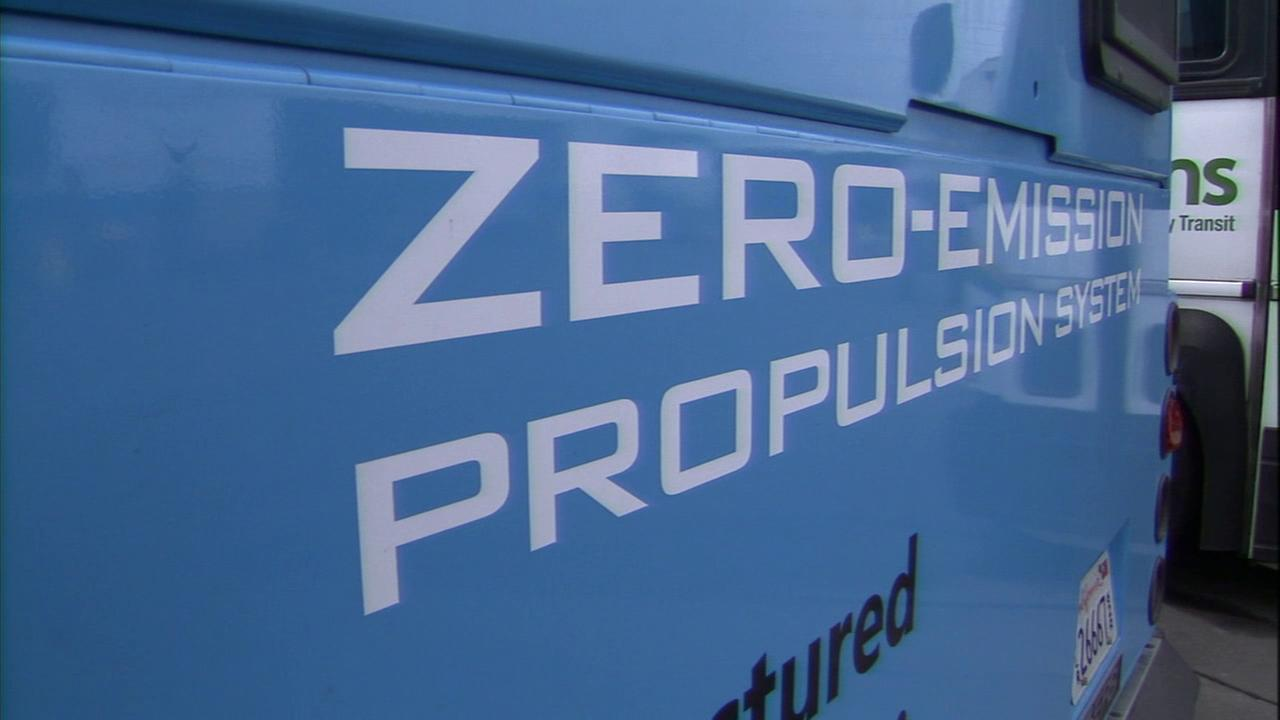 A Riverside company is rebuilding a fleet of old buses to become all-electric zero-emission cars within the next year.
