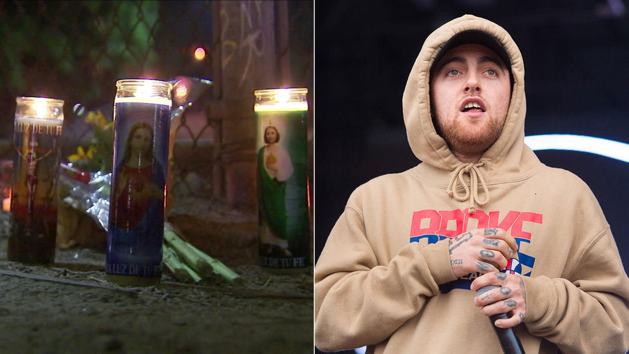 Rapper Mac Miller, pictured on the right, died Sept. 7, 2018. A vigil was held for him in the Fairfax District of Los Angeles the following day.