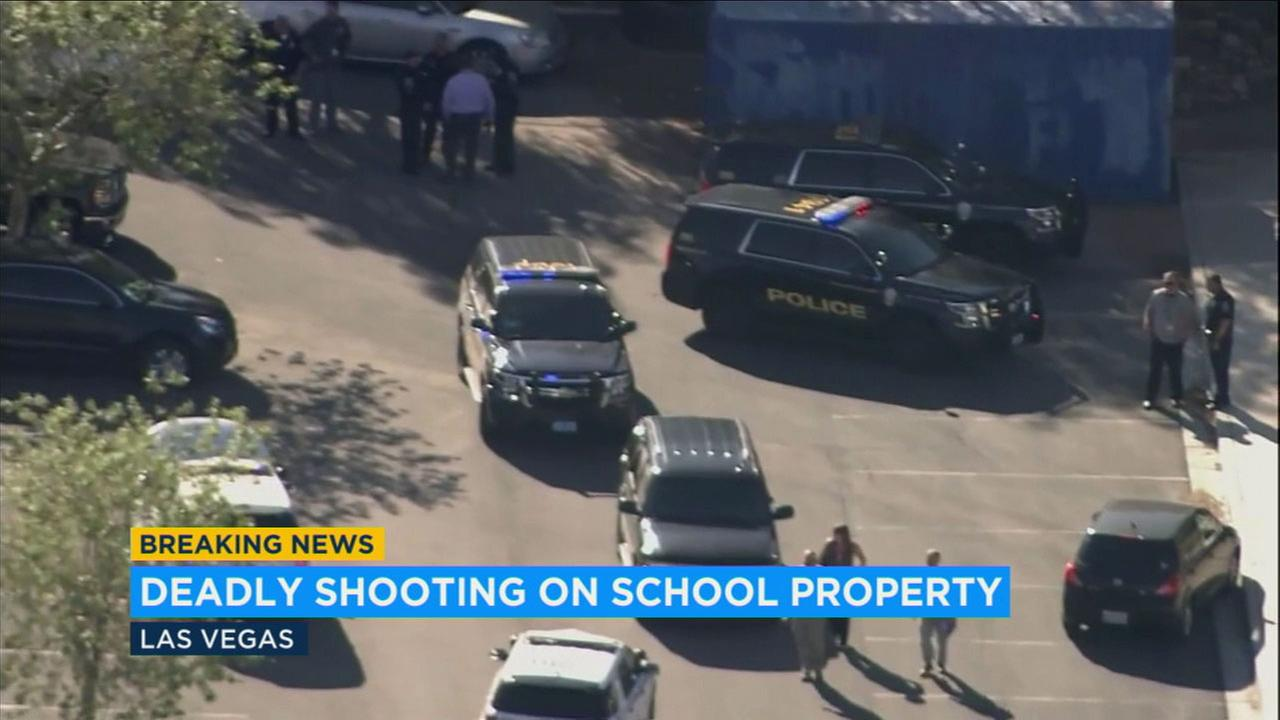 A high school in North Las Vegas was locked down for several hours after an 18-year-old was found shot to death on campus.