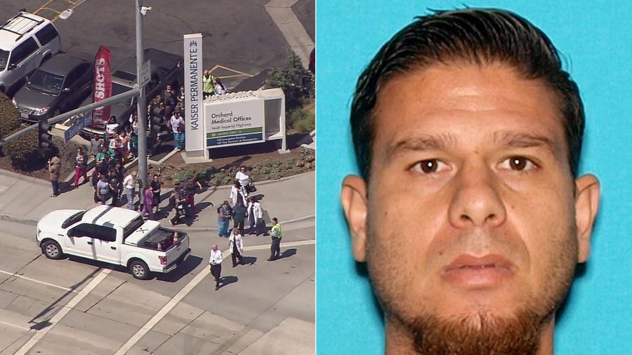 Jesus Chavez of Lynwood was arrested at a Kaiser Permanente medical building in Downey after reports of shots fired at the building prompted evacuations and a police response.
