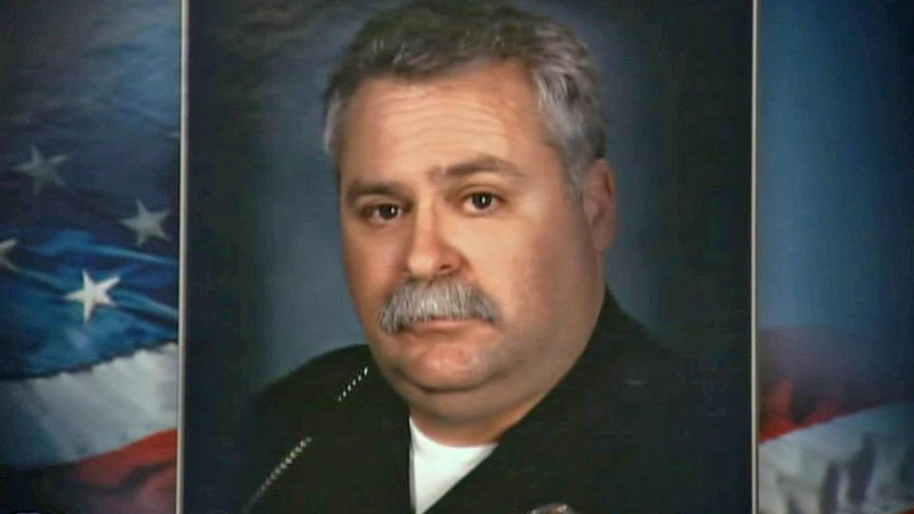 LAPD Officer Chris Cortijo died Wednesday, April 9, 2014, from injuries he sustained when a suspected DUI driver crashed into his motorcycle in Sun Valley on Saturday, April 5.