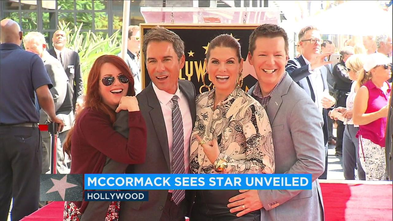 Eric McCormacks costars from Will and Grace joined him as he received a star on the Hollywood Walk of Fame.