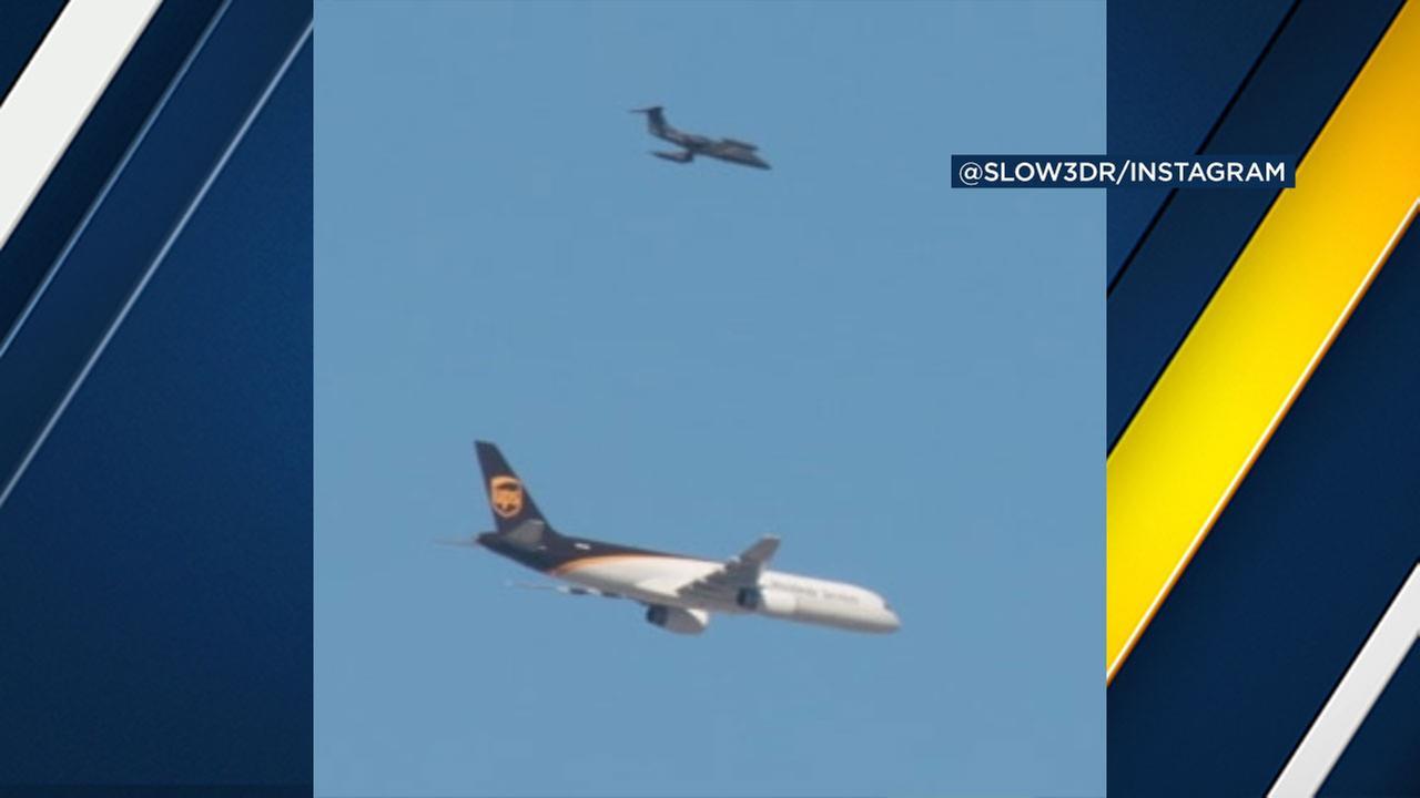 Mystery UPS plane escort