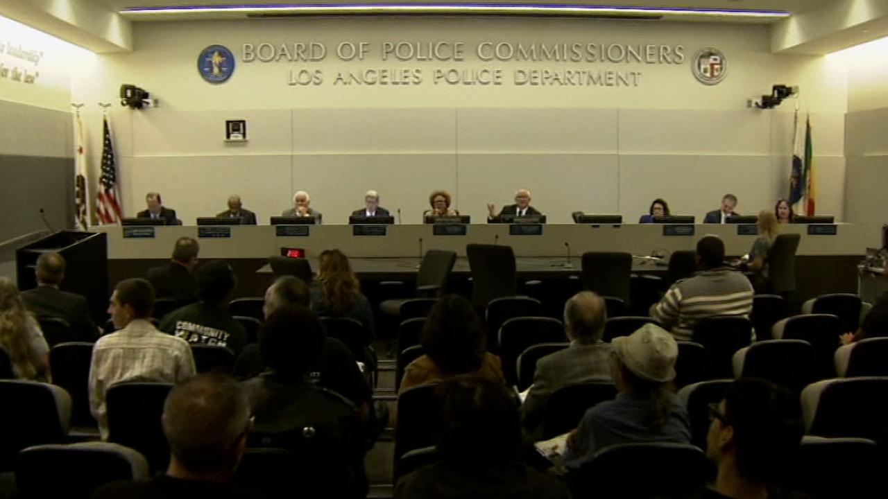 The Los Angeles Police Commission hosted a public discussion Tuesday, Dec. 9, 2014 after several fatal officer-involved shootings across the country sparked protests.