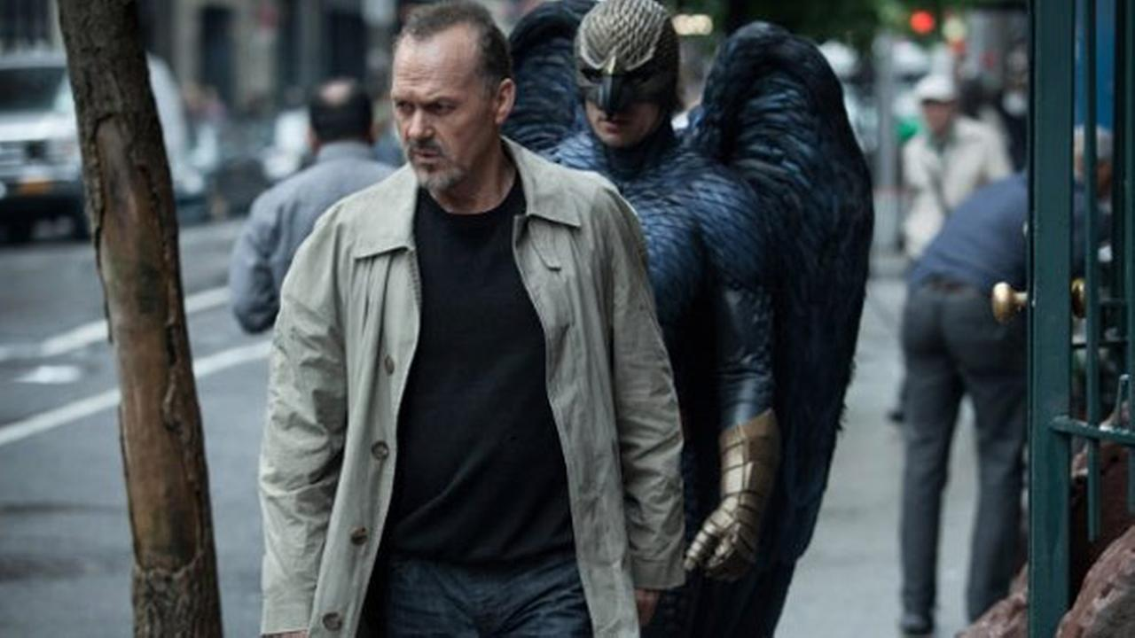 Michael Keaton appears in a still from the film Birdman.
