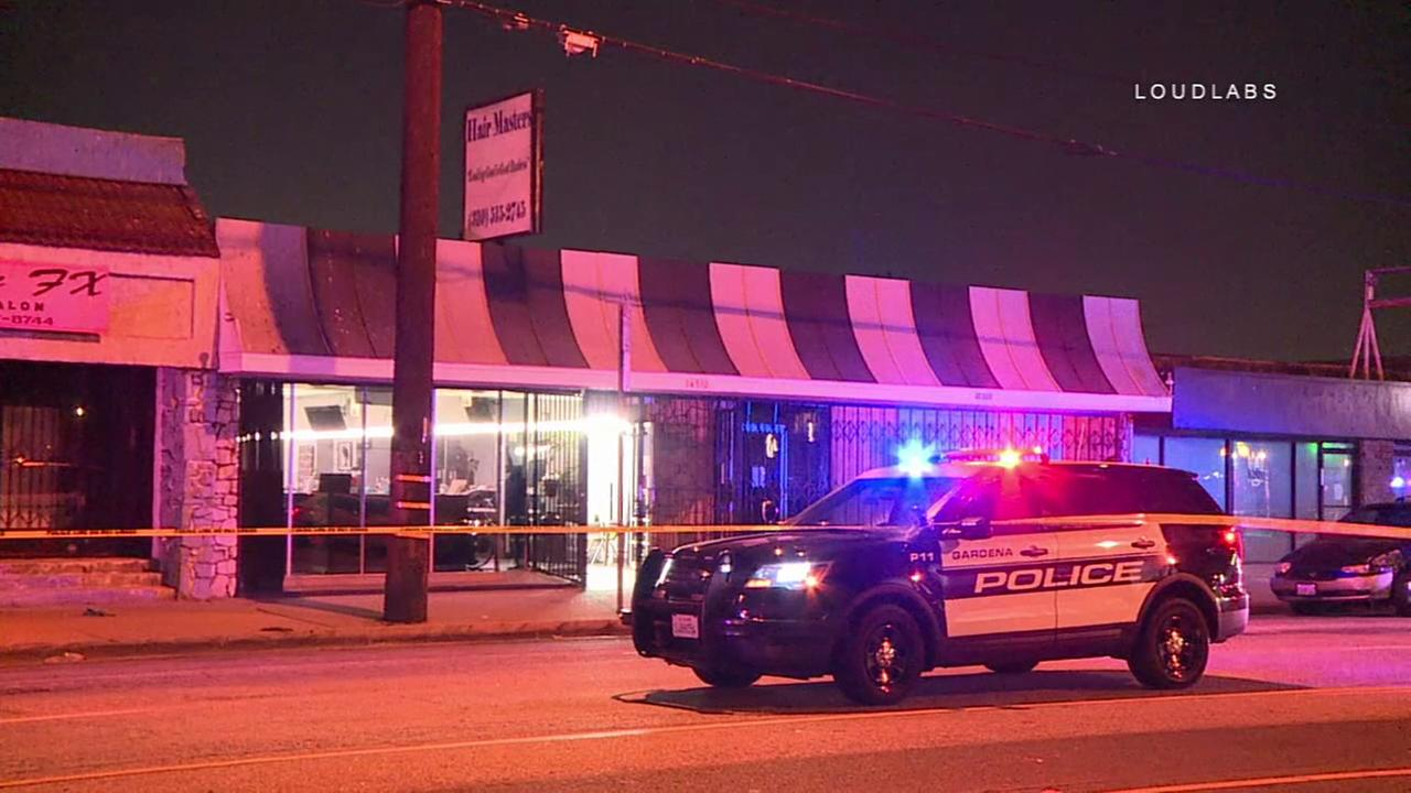 Four people were stabbed, one fatally, during an altercation Friday, Sept. 21, 2018, in Gardena, authorities said.