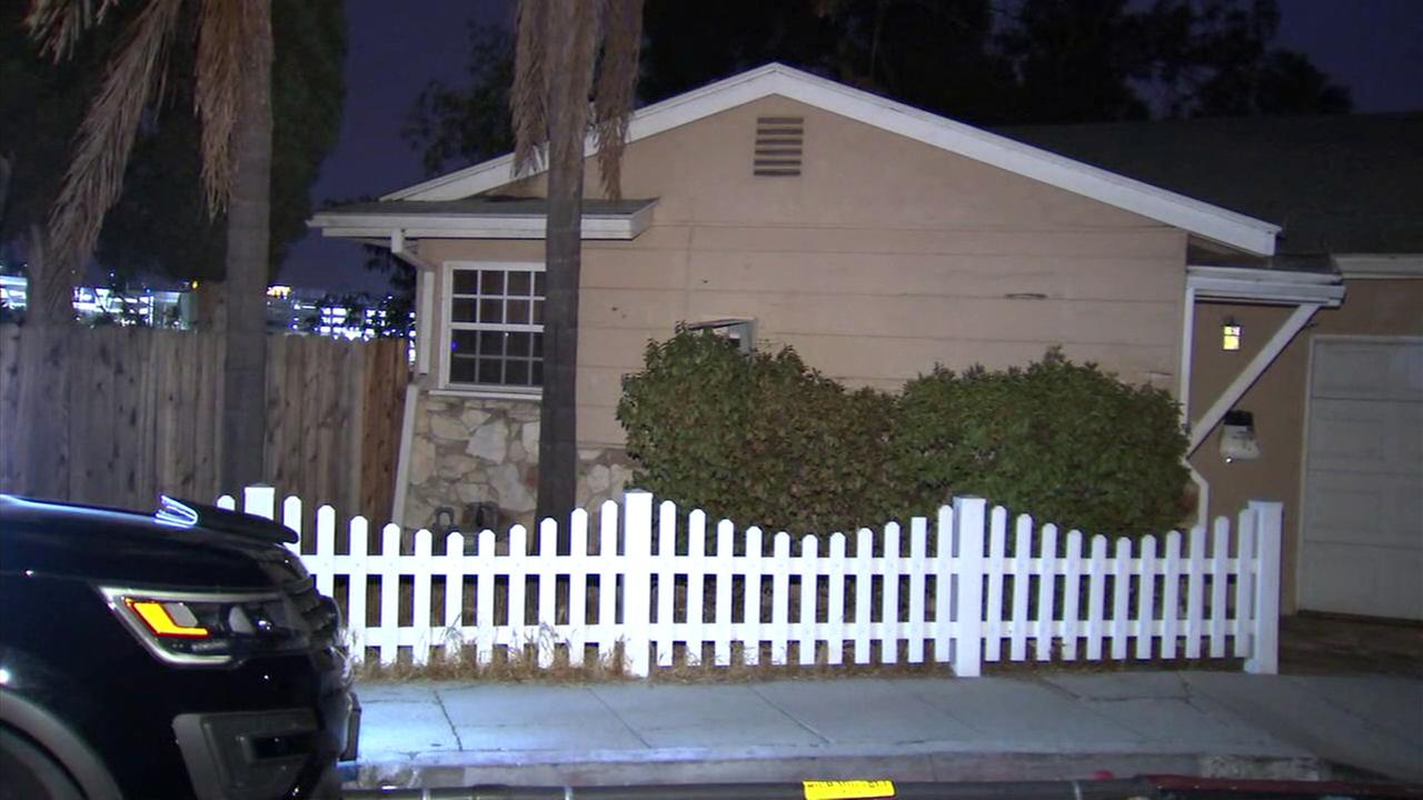 Three armed men are being sought after a violent home invasion Monday, Sept. 24, 2018, in Studio City, authorities said.