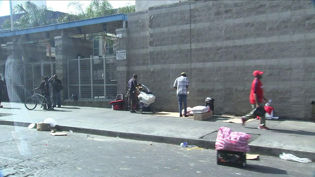 On LAs Skid Row, its become more common for people to illegally pay the homeless to sign political ballot measures.