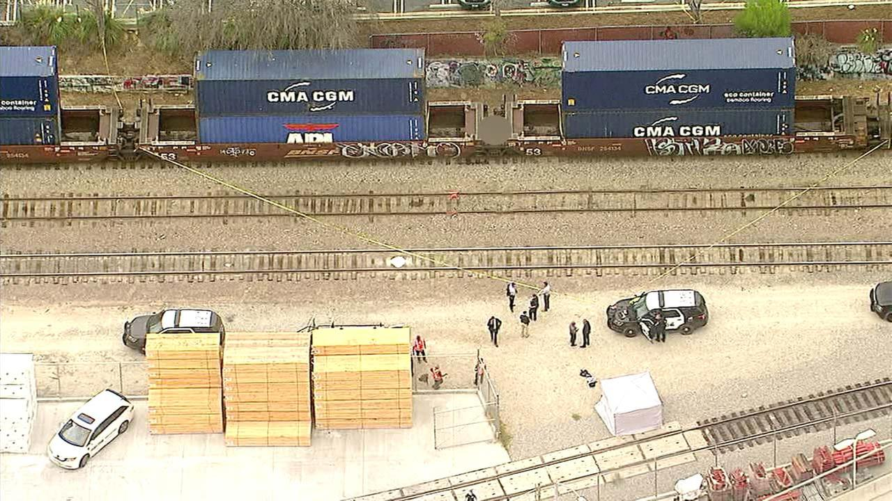 A body was found between two train cars in Torrance on Tuesday, Sept. 25, 2018.