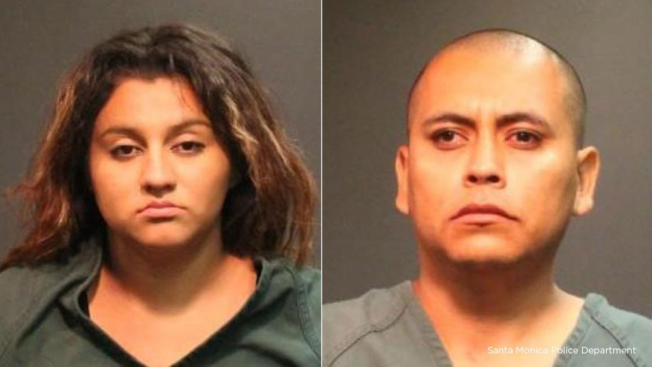 Lizeth Carrillo, 21, and Fernando Velasquez, 28, arrested in connection with a string of armed robberies in Santa Ana.