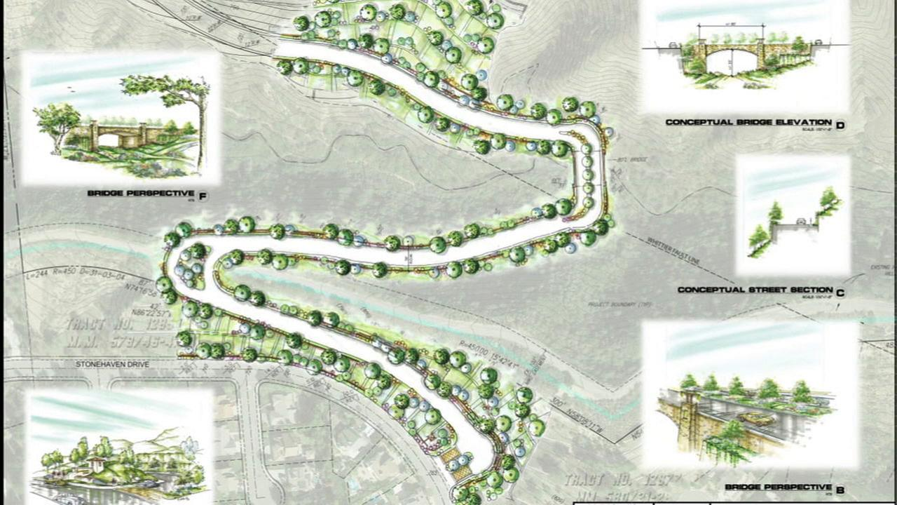 A rendering shows a Yorba Linda gated community development plan known as the Esperanza Hills project.